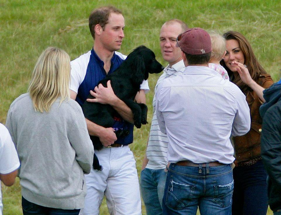 "<p>In 2012, Kate and William settled down in Anglesey, North Wales, near William's Royal air force Base. According to The Telegraph, William got Kate <a href=""https://www.telegraph.co.uk/news/uknews/kate-middleton/9096030/Duchess-of-Cambridge-reveals-new-puppy-is-named-Lupo.html"" rel=""nofollow noopener"" target=""_blank"" data-ylk=""slk:a cocker spaniel puppy"" class=""link rapid-noclick-resp"">a cocker spaniel puppy</a> named Lupo for her 30th birthday.<br></p>"