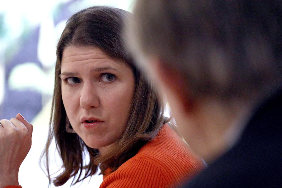 Liberal Democrat leader Jo Swinson during a visit to the London design museum to discuss the party's tech policy whilst on the General Election campaign trail.