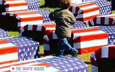 """This image of caskets on Instagram was accompanied with a warning to America to """"prepare the coffins"""" - Credit: INSTAGRAM"""