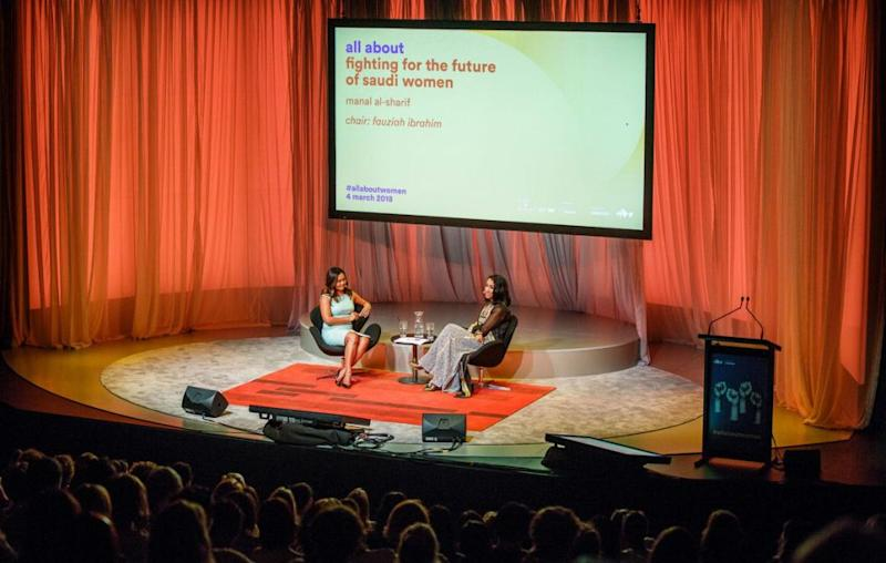 Speaking at last Sunday's All About Women event at Sydney's Opera House ahead of International Women's Day, Manal said she'll be celebrating on June 24, when females in Saudi Arabia will finally have the freedom to sit behind the wheel. Source: Yaya Stempler
