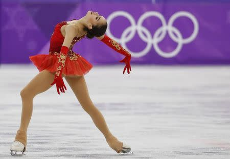Figure Skating - Pyeongchang 2018 Winter Olympics - Women Single Skating free skating competition final - Gangneung Ice Arena - Gangneung, South Korea - February 23, 2018 - Alina Zagitova, an Olympic Athlete from Russia, competes. REUTERS/Phil Noble