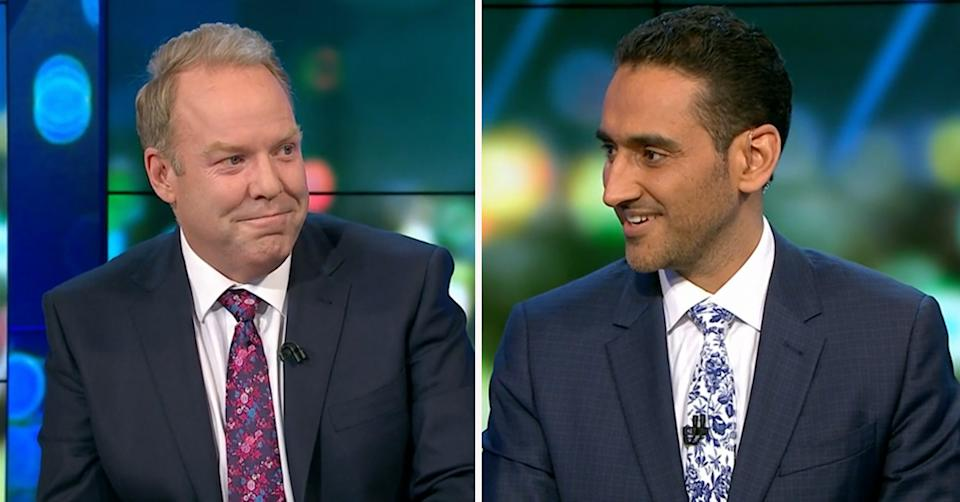 The project hosts Peter Helliar and Waleed Aly