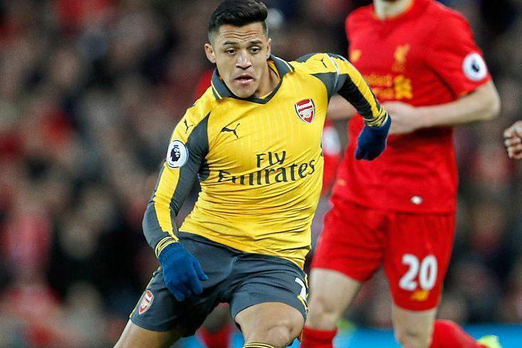 To little, too late: Sanchez was brought on during Saturday's game but Arsenal still lost