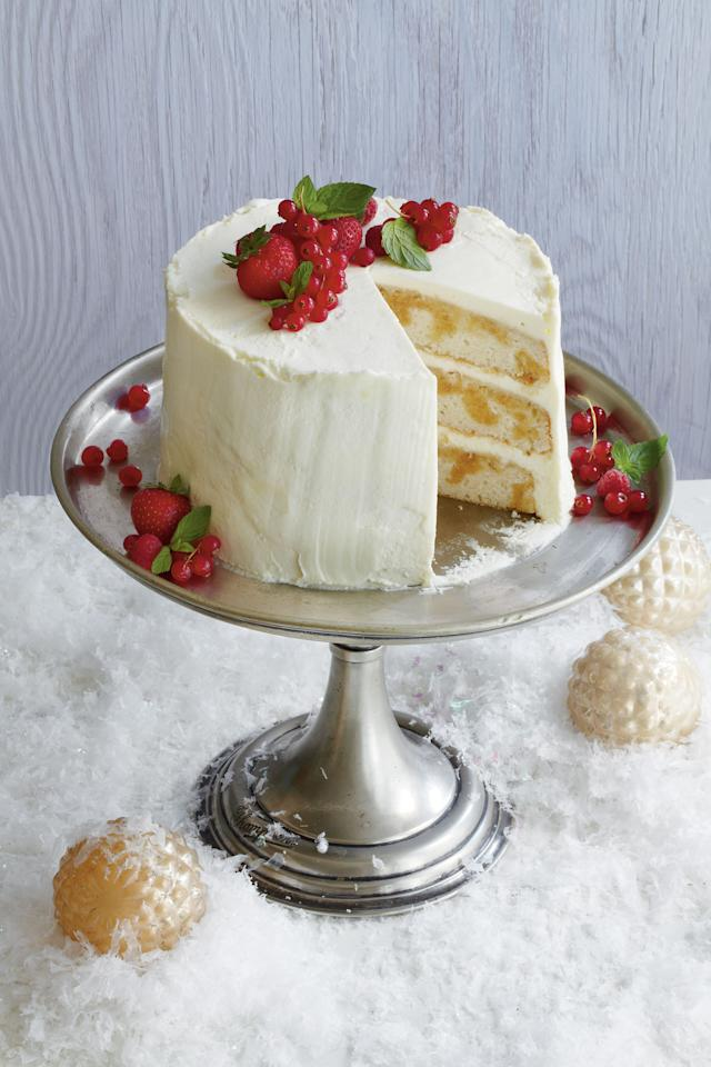 """<p><strong>Recipe:</strong> <a rel=""""nofollow"""" href=""""http://www.myrecipes.com/recipe/tiramisu-layer-cake-00420000008156/""""><strong>Tiramisù Layer Cake</strong></a></p><p>This cake is hands down the tastiest of the many takes on tiramisù we ran across during judging of our <a rel=""""nofollow"""" href=""""http://www.southernliving.com/food/christmas-desserts-recipes-00417000076468/?iid=magazine-white-cake"""">White Cake Contest</a>. Michelle Matile's runner-up recipe offers the delicious flavor of traditional tiramisù but the decorating opportunities of a layer cake.</p>"""