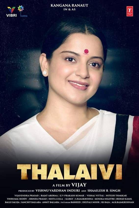 <i>Thalaivi's</i> official poster.