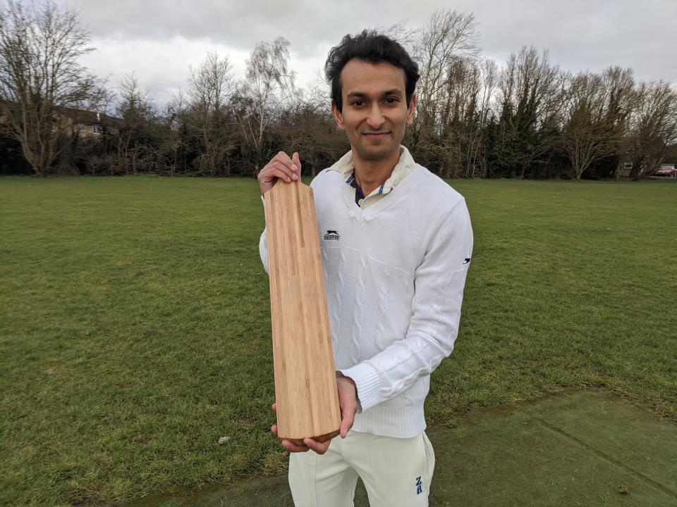 Bamboo is stronger than willow and transfers more power to the cricket ball, according to a study. (Cambridge University/ PA)