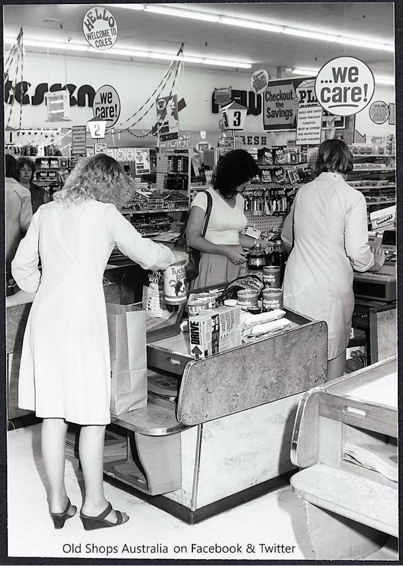 Pictured is Coles New World supermarket in Melton West, Melbourne, in 1979. Source: PBS