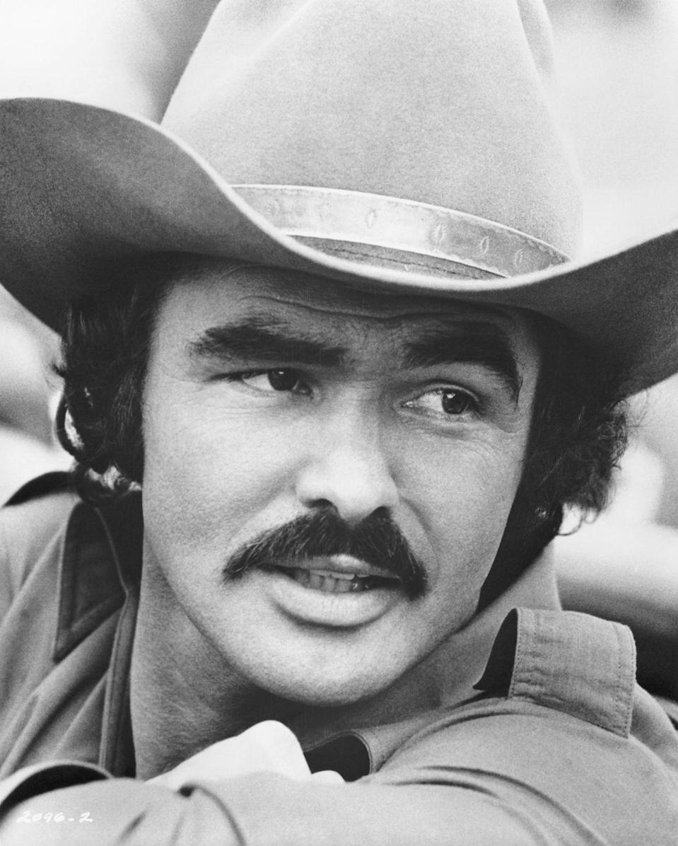 <p>From his breakout performance in 1977's <em>Smokey and The Bandit </em>and on through later works like <em>Boogie Nights</em>, Burt Reynolds was a longtime advocate of a slightly overgrown mustache.  </p>