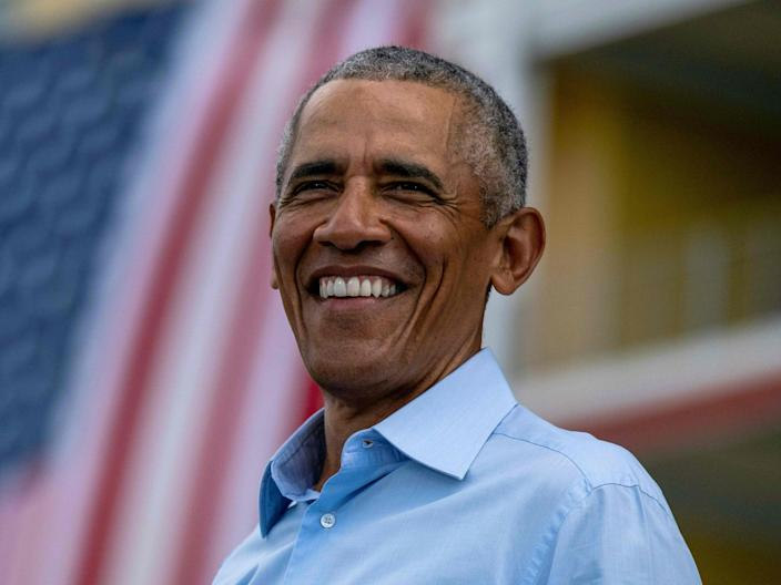 Former president Barack Obama says the Affordable Care Act is 'here to stay' (AFP via Getty Images)