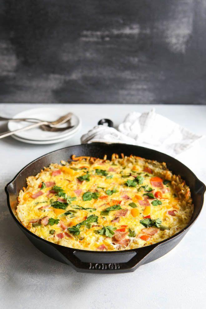 "<strong>Get the <a href=""https://www.completelydelicious.com/hash-brown-ham-frittata/"" target=""_blank"">Hash Brown and Ham Frittata</a> recipe from Completely Delicious.</strong>"