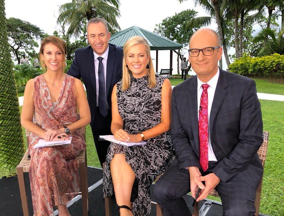 Samantha Armytage and Kochie with Natalie Barr