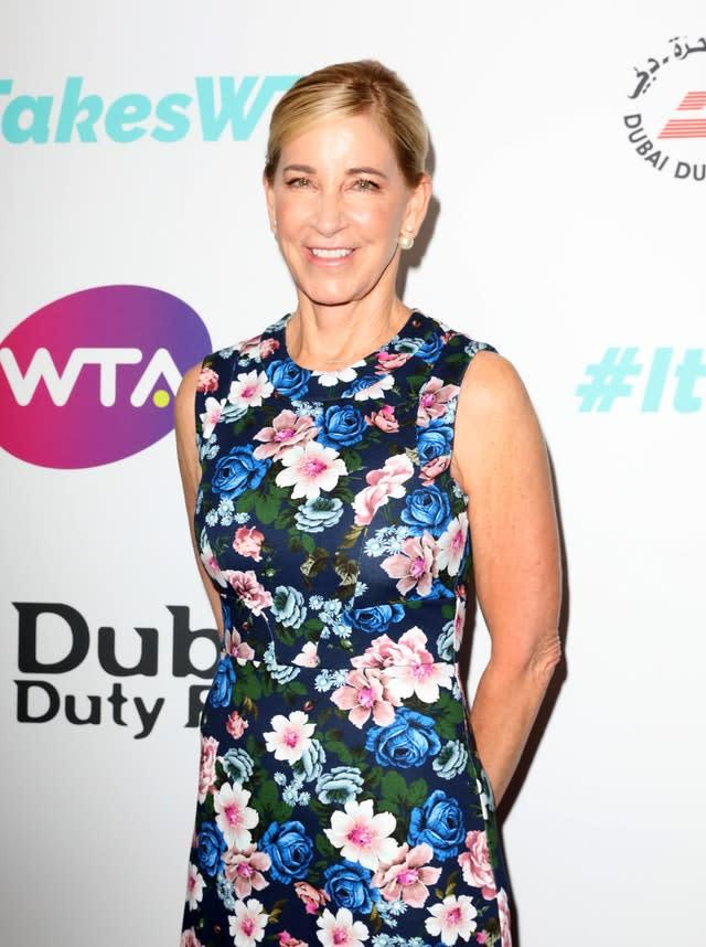 American great Chris Evert has weighed in on the issue (Isabel Infantes/PA)