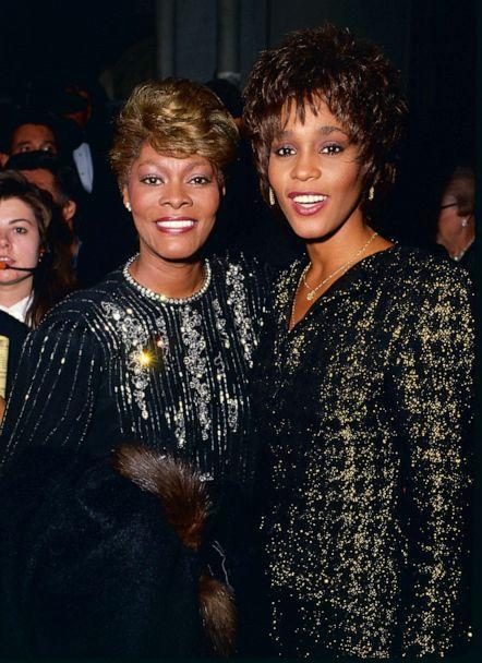 PHOTO: Dionne Warwick and Whitney Houston in Los Angeles. (Steve Granitz/WireImage/Getty Images, FILE)