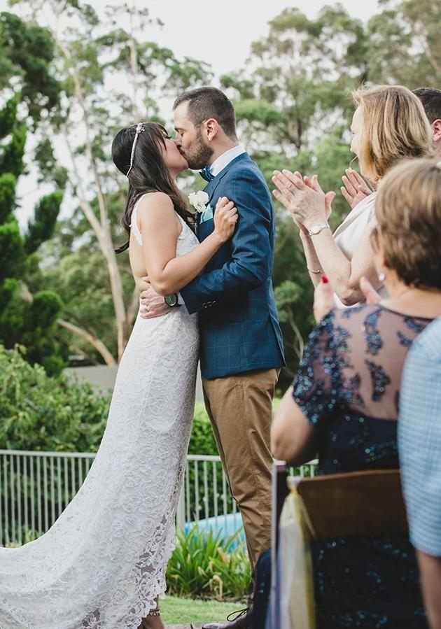 They were married last month in an intimate ceremony in Berry, NSW. Photo: Supplied