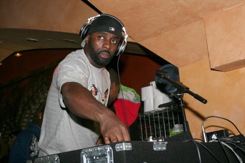 """<p>Idris Elba may be known for his role on <em>The Wire</em>, but the actor's obsession with DJing <a href=""""https://www.rollingstone.com/tv/tv-features/idris-elba-interview-dj-netflix-turn-up-charlie-coachella-810204/"""" rel=""""nofollow noopener"""" target=""""_blank"""" data-ylk=""""slk:traces back to his childhood"""" class=""""link rapid-noclick-resp"""">traces back to his childhood</a>. Idris spun records around London before moving to New York CIty and becoming an actor. In the last 10 years, he has made his <a href=""""https://open.spotify.com/artist/0Dc2rdPzleezxhvQhQbXuS?si=RFVAf9hYS4GkHBliL3h-0A"""" rel=""""nofollow noopener"""" target=""""_blank"""" data-ylk=""""slk:DJ persona known"""" class=""""link rapid-noclick-resp"""">DJ persona known</a> and even played at Coachella in 2019.</p>"""
