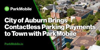 The partnership with ParkMobile contributes to Auburn's plan to expand contactless parking payment options across the city.