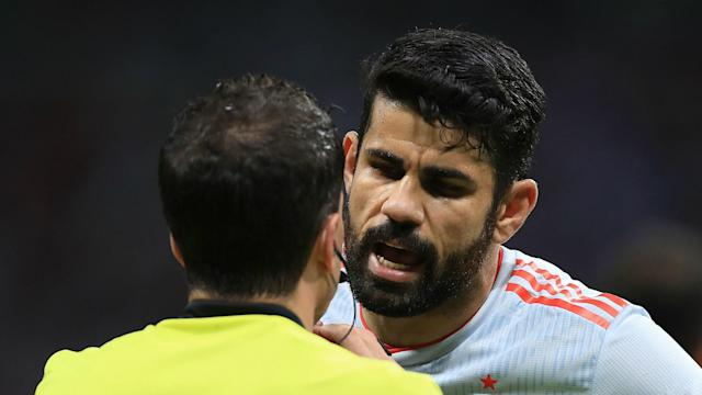 After hitting the winning goal in a 1-0 Group B defeat of Iran, Spain striker Diego Costa took exception at a question from a journalist.