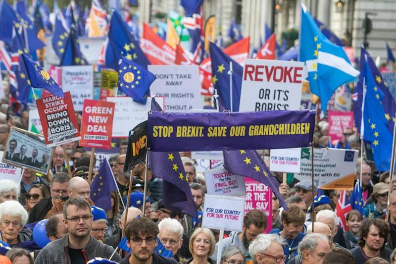 Thousands of pro- Remain supporters took to the streets of London on Saturday