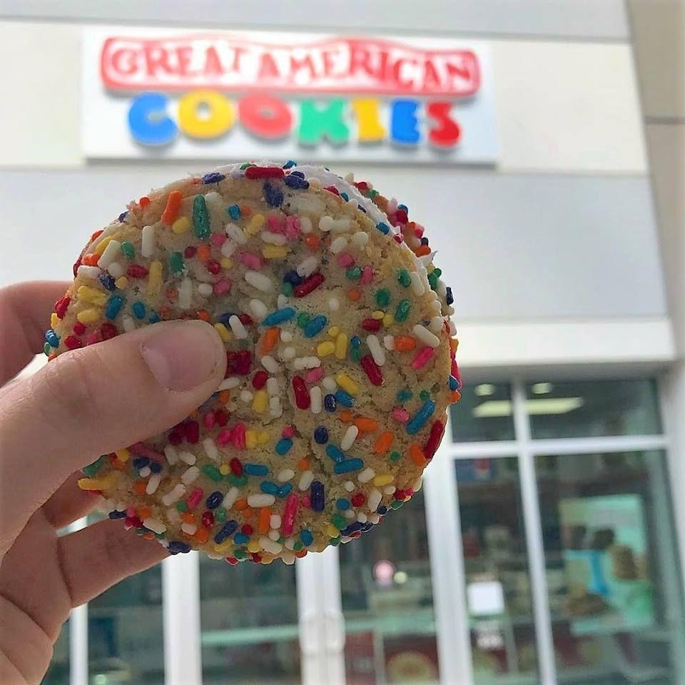 """<p>Freebie: cookie cake slice with the purchase of a soda when you sign up for Cookie-mail</p><p><a href=""""http://www.greatamericancookies.com/"""" rel=""""nofollow noopener"""" target=""""_blank"""" data-ylk=""""slk:greatamericancookies.com"""" class=""""link rapid-noclick-resp""""><em>greatamericancookies.com</em></a></p>"""