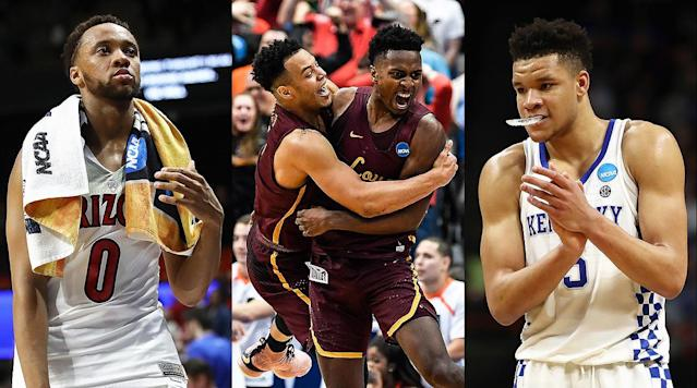 "<p>The defining moment of the first day of the 2018 NCAA tournament was, at once, fantastic and foreseeable. No. 11 seed Loyola-Chicago was a <a href=""http://www.espn.com/blog/collegebasketballnation/post/_/id/121790/tournament-challenge-loyola-chicago-upset-picked-by-35-6-percent"" rel=""nofollow noopener"" target=""_blank"" data-ylk=""slk:popular pick"" class=""link rapid-noclick-resp"">popular pick</a> to upset No. 6 Miami at American Airlines Center in Dallas on Thursday. The Ramblers had already won at Florida in December. They rated out as one of the top 25 defenses in the country, according to Ken Pomeroy's adjusted efficiency. They had rolled through the Missouri Valley Conference with only one loss since early January. Loyola-Chicago may be a little-known mid-major, but it did not stun the college hoops world by beating the Hurricanes.</p><p>What it did do was provide a dose of thrilling, game-swinging drama on a chalky day in which favorites mostly held serve*. As other potential Cinderellas saw their March dreams dashed—from No. 13 UNC-Greensboro (No. 4 Gonzaga) to No. 12 Davidson (No. 5 Kentucky) to No. 14 Stephen F. Austin (No. 3 Texas Tech) and everyone in between—<a href=""https://www.si.com/college-basketball/2018/03/15/ncaa-tournament-loyola-chicago-miami-buzzer-beater-upset-video"" rel=""nofollow noopener"" target=""_blank"" data-ylk=""slk:the deep, buzzer-beating three-pointer"" class=""link rapid-noclick-resp"">the deep, buzzer-beating three-pointer</a> from 6'6'' Ramblers senior Donte Ingram that sent Miami packing guaranteed one underdog's passage into the second round. When it comes time to assess this tourney in full, that shot will be lumped into an <a href=""https://www.ncaa.com/news/basketball-men/article/2018-03-14/watch-every-one-shining-moment-right-here"" rel=""nofollow noopener"" target=""_blank"" data-ylk=""slk:iconic montage"" class=""link rapid-noclick-resp"">iconic montage</a> of highlights. On Thursday, it didn't have much company.</p><p>Here are SI's biggest takeaways from Day 1 of the NCAAs:</p><p>- The Pac-12 was going to have a hard time coming out a winner from this tourney no matter what happened on Thursday. It placed only one team in the final AP Top 25 Poll, had only two teams—Arizona State and UCLA—earn at-large bids, and both of them failed to make it to the first round by losing their First Four games to Syracuse and St. Bonaventure, respectively. Thursday brought more bad news, in the form of a night-window tip in which the favorite definitely did not hold serve*. A tumultuous season for the West Coast-based league's regular-season and conference tournament champion, Arizona, came crashing down in Boise. The No. 4 seed Wildcats were run off the court by No. 13 Buffalo in an 89–68 blowout that represented the second-biggest margin of victory for a team seeded No. 13 or worse since the tourney expanded to 64 teams in 1985. <a href=""https://twitter.com/ESPNStatsInfo/status/974484939419914240"" rel=""nofollow noopener"" target=""_blank"" data-ylk=""slk:According to"" class=""link rapid-noclick-resp"">According to</a> ESPN Stats & Information, this is the first time dating to 1986 that the Pac-12 has failed to record a win in the NCAAs. Another ignominious first for the league: No high-major since 1996–97 <a href=""https://twitter.com/JohnGasaway/status/974492634004774912"" rel=""nofollow noopener"" target=""_blank"" data-ylk=""slk:had failed"" class=""link rapid-noclick-resp"">had failed</a> to put a team in the round of 32.</p><p>The Pac-12's postseason demise may have happened sooner, and with less advance notice, than expected, but perhaps it's preferable that the Pac-12 file away this dismaying season sooner rather than later. Commissioner Larry Scott indicated earlier this week that he was already looking to the future when he <a href=""https://pac-12.com/article/2018/03/13/pac-12-sets-forth-plan-sweeping-reform-mens-basketball"" rel=""nofollow noopener"" target=""_blank"" data-ylk=""slk:released a plan"" class=""link rapid-noclick-resp"">released a plan</a> calling for ""unprecedented reform"" in men's basketball. And besides, with only one squad having done enough in the regular season to avoid the play-in games, the Pac-12 had little hope of accomplishing anything of substance in this postseason <a href=""https://www.si.com/college-basketball/2018/03/01/arizona-sean-miller-deandre-ayton-espn-report"" rel=""nofollow noopener"" target=""_blank"" data-ylk=""slk:that didn't involve"" class=""link rapid-noclick-resp"">that didn't involve</a> creating bad optics. The more Arizona won, the more national attention would be paid to its role in the FBI's sweeping probe into corruption across college basketball.</p><p>- While the Pac-12 sputtered, a football-first league on the other side of the country shined. Less than a week after setting a league record by having eight teams earn invitations to the big dance, four of them took the court for first-round games, and four of them won first-round games. Tennessee got things rolling by crushing Wright State, 73–46, to move on to a winnable matchup against the aforementioned Ramblers in the second round. No. 5 Kentucky followed up by navigating a tricky matchup against an offensively potent Davidson team. Alabama did its part in a tough No. 8-No. 9 meeting with Virginia Tech thanks in large part to 25 points on 7-of-14 shooting from freshman point guard Collin Sexton. And Florida closed out the day by making easy work of a dangerous St. Bonaventure squad powered by prolific guard Jaylen Adams.</p><p>The SEC faces a far less favorable slate of matchups on Friday, including a pair of No. 7-No. 10 pairings against formidable Big East opponents: No. 7 Texas A&M vs. No. 10 Providence and No. 7 Arkansas vs. No. 10 Butler. Plus, Auburn could get a serious challenge from Colonial Athletic Association champion College of Charleston in San Diego. Still, the SEC already had plenty to celebrate from a regular season that saw multiple outfits vastly outperform preseason expectations to snatch bids, and it hardly could have asked for a better start to the tourney. The conference may not have a viable national title contender in its ranks, but there's no quibbling with its depth of quality. An additional bonus? Georgia made a promising hire to replace the deposed Mark Fox, <a href=""https://www.si.com/college-basketball/2018/03/15/tom-crean-georgia-head-coach-news"" rel=""nofollow noopener"" target=""_blank"" data-ylk=""slk:plucking former Indiana and Marquette head coach Tom Crean"" class=""link rapid-noclick-resp"">plucking former Indiana and Marquette head coach Tom Crean</a> from his gig as an ESPN television analyst.</p><p>- Who needs 3s? Not Kentucky. No. 5 Big Blue's 78–73 win over No. 12 Davidson in the South region amounted to a repudiation of the virtues of Moreyball. Kentucky attempted only six long-range shots against Bob McKillop's team and missed all of them, marking the first time since the now-defunct Great Alaska Shootout tournament in 1988 that UK didn't hit even once from deep. (That <a href=""https://www.si.com/college-basketball/2018/03/15/kentucky-consecutive-games-three-pointer-streak-snapped"" rel=""nofollow noopener"" target=""_blank"" data-ylk=""slk:ended a streak"" class=""link rapid-noclick-resp"">ended a streak</a> of 1,047 games.) Kentucky still managed 1.11 points per possession compared to 1.04 for Davidson, which knocked down 11 of its 33 tries from downtown. The Wildcats' three-less victory would have been remarkable against any opponent in the NCAAs. That the win came against a team that ranks in the top 10 in Division I in the proportion of points it gets beyond the arc only added to the weirdness. Here's guessing Kentucky will need at least one triple to make it past No. 13 seed Buffalo in the second round on Saturday.</p><p>- Tennessee's miraculous turnaround is alive and well. At the risk of overreacting to a ho-hum win over an overmatched opponent, the Volunteers have an excellent opportunity to get to the second weekend after failing to qualify for the NCAAs the three previous years. Tied for the <a href=""https://www.oddsshark.com/ncaab/college-basketball-futures"" rel=""nofollow noopener"" target=""_blank"" data-ylk=""slk:worst championship odds"" class=""link rapid-noclick-resp"">worst championship odds</a> among No. 3 seeds as of Thursday, Tennessee smoked its opening-round opponent, No. 14 Wright State, to advance to a manageable matchup against a mid-major. Loyola Chicago's win over Miami did not have the feel of a one-off; the Ramblers are good enough to slay another high-major. That said, the Volunteers are one victory away from clinching a spot in the sport's ultimate group of 16 teams only a few months after they were picked to finish 13th in their own conference. In related news, Rick Barnes was <a href=""http://naismithtrophy.com/werner-ladder-naismith-mens-college-coach-of-the-year-finalists-announced/"" rel=""nofollow noopener"" target=""_blank"" data-ylk=""slk:named a finalist"" class=""link rapid-noclick-resp"">named a finalist</a> on Thursday for the Naismith Coach of the Year award.</p>"