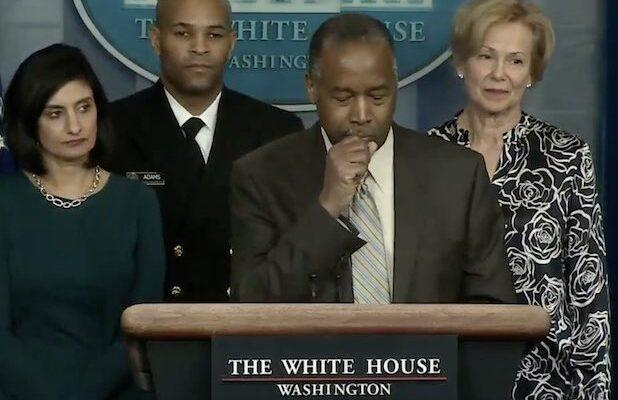 Ben Carson Gets Roasted for Coughing Into His Hand at Coronavirus Press Conference