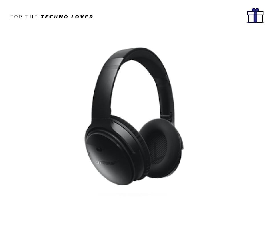 """<p>Shut out the noise of unwanted holiday family drama with these super stylish and bass pounding bluetooth headphones Bose QuietComfort 35 Wireless Headphones, $350,<a href=""""https://www.bose.com/en_us/products/headphones/over_ear_headphones/quietcomfort-35-wireless/buy.html#EcommerceArea&v=qc35_black"""" rel=""""nofollow noopener"""" target=""""_blank"""" data-ylk=""""slk:bose.com"""" class=""""link rapid-noclick-resp""""> bose.com</a> </p>"""