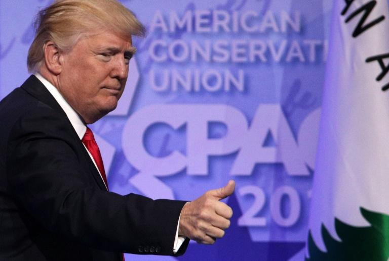 US President Donald Trump will address the Conservative Political Action Conference near Washington during a period of political turmoil, and as the nation grieves over high school students killed in the latest school shooting