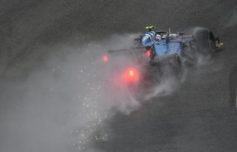 Williams' George Russell claimed a shock front row spot in Spa qualifying (AFP/JOHN THYS)