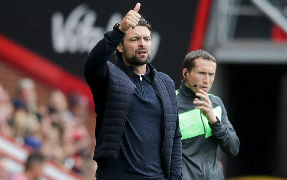 Russell Martin on the sidelines for MK Dons - GETTY IMAGES