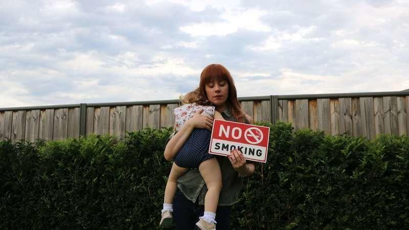 Nina Belle wants the NSW government to place a ban on smoking around kids. Photo: Change.org