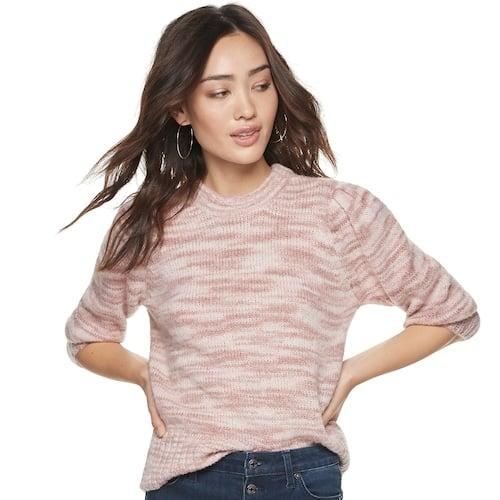 """<p>""""A sweater-and-jeans outfit is one of my go-to's year-round and this <a href=""""https://www.popsugar.com/buy/POPSUGAR-Puff-Sleeve-Sweater-506634?p_name=POPSUGAR%20Puff-Sleeve%20Sweater&retailer=kohls.com&pid=506634&price=50&evar1=fab%3Aus&evar9=46805008&evar98=https%3A%2F%2Fwww.popsugar.com%2Ffashion%2Fphoto-gallery%2F46805008%2Fimage%2F46805010%2FPOPSUGAR-Puff-Sleeve-Sweater&prop13=api&pdata=1"""" rel=""""nofollow"""" data-shoppable-link=""""1"""" target=""""_blank"""" class=""""ga-track"""" data-ga-category=""""Related"""" data-ga-label=""""https://www.kohls.com/product/prd-3909273/womens-popsugar-puff-sleeve-sweater.jsp?color=Bridal%20Rose&amp;prdPV=5"""" data-ga-action=""""In-Line Links"""">POPSUGAR Puff-Sleeve Sweater</a> ($50) has a feminine feel to it that makes the otherwise simple outfit formula feel a little more dressed up. I'll be living in this one and buying it in multiple colors!""""</p>"""
