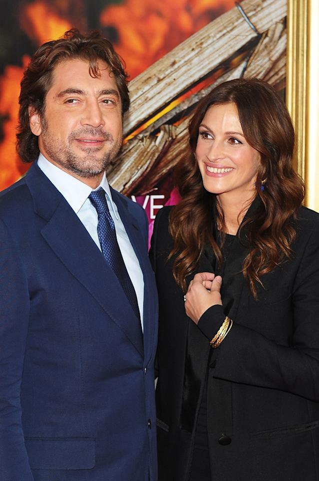"""<a href=""""http://movies.yahoo.com/movie/contributor/1800023079"""">Javier Bardem</a> and <a href=""""http://movies.yahoo.com/movie/contributor/1800019215"""">Julia Roberts</a> at the New York City premiere of <a href=""""http://movies.yahoo.com/movie/1810105588/info"""">Eat Pray Love</a> - 08/10/2010"""