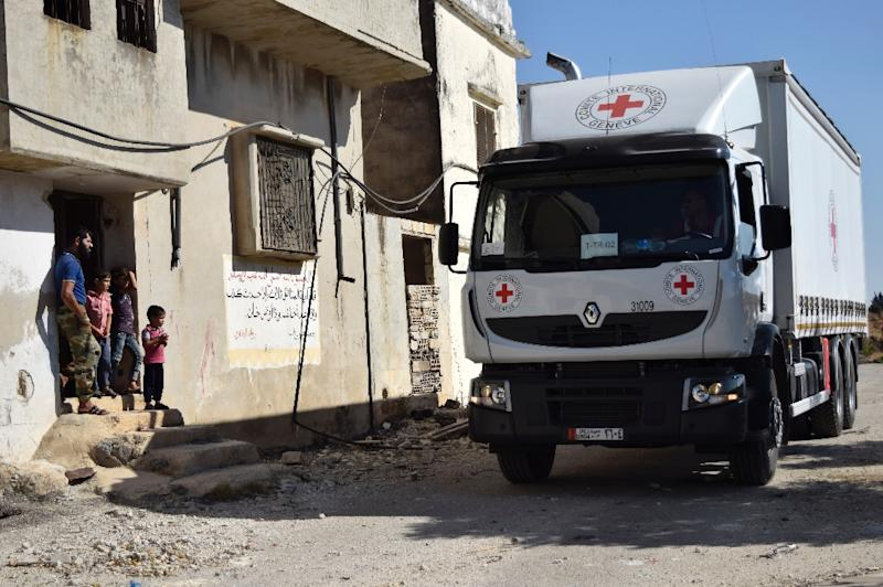 Forty trucks are sitting at the Turkish-Syrian border, the head of the UN humanitarian taskforce for Syria told reporters (AFP Photo/Mahmoud Taha)