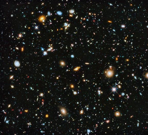 Where are they? It's a big question and a big universe. Astronomers using NASA's Hubble Space Telescope have assembled this Hubble Ultra Deep Field 2014 picture.