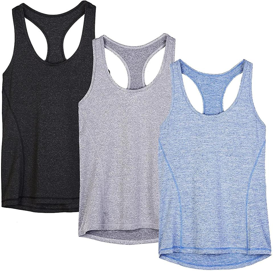 <p>These <span>Icyzone Workout Tank Tops</span> ($20 for 3) are always workout staples.</p>