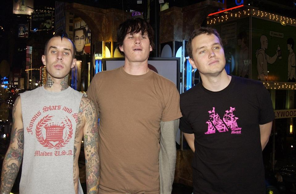 <p>The guys of Blink-182 visited <b>TRL</b> in 2003.</p>