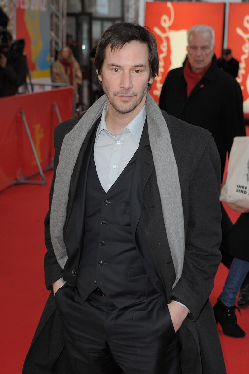 Reeves attends the 62nd Berlin International Film Festival.