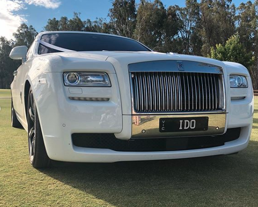 Wedding car with 'I do' numberplate