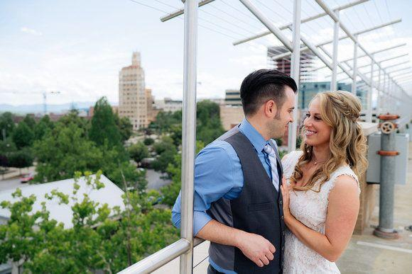 Newlyweds Amanda and Sean Magee after their Asheville, North Carolina, city hallelopement.
