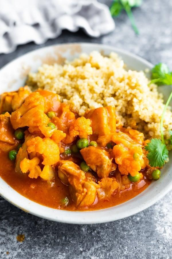 """<p>The Instant Pot is a meal-prep must have if you are always short on time. This chicken tikka masala comes together in about 30 minutes and can be refrigerated or frozen until hunger calls.</p> <p><strong>Get the recipe:</strong> <a href=""""https://sweetpeasandsaffron.com/instant-pot-chicken-tikka-masala/"""" class=""""link rapid-noclick-resp"""" rel=""""nofollow noopener"""" target=""""_blank"""" data-ylk=""""slk:Instant Pot chicken tikka masala"""">Instant Pot chicken tikka masala</a></p>"""