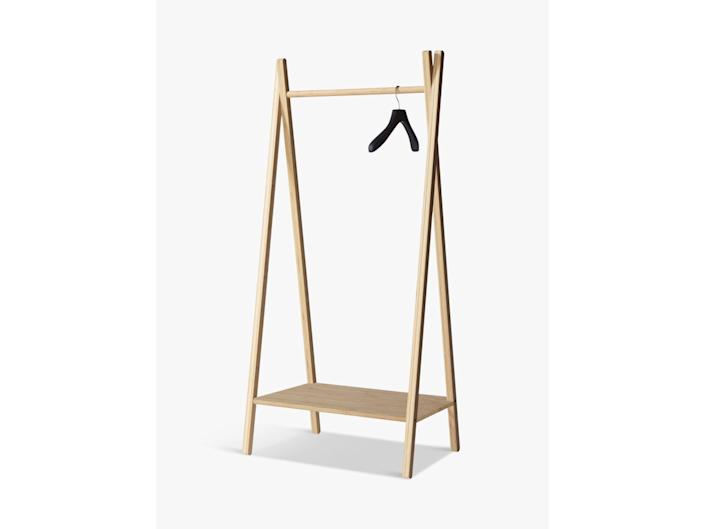 Store your wardobe in style with this standing shelfJohn Lewis & Partners