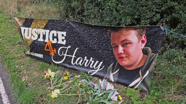 PHOTO: RAF Croughton airbase where Harry Dunn died on Aug. 27 when riding his motorcycle from his home, in Northamptonshire, Britain a memorial is seen on Oct. 15, 2019. (Paul Howard/REX via Shutterstock)
