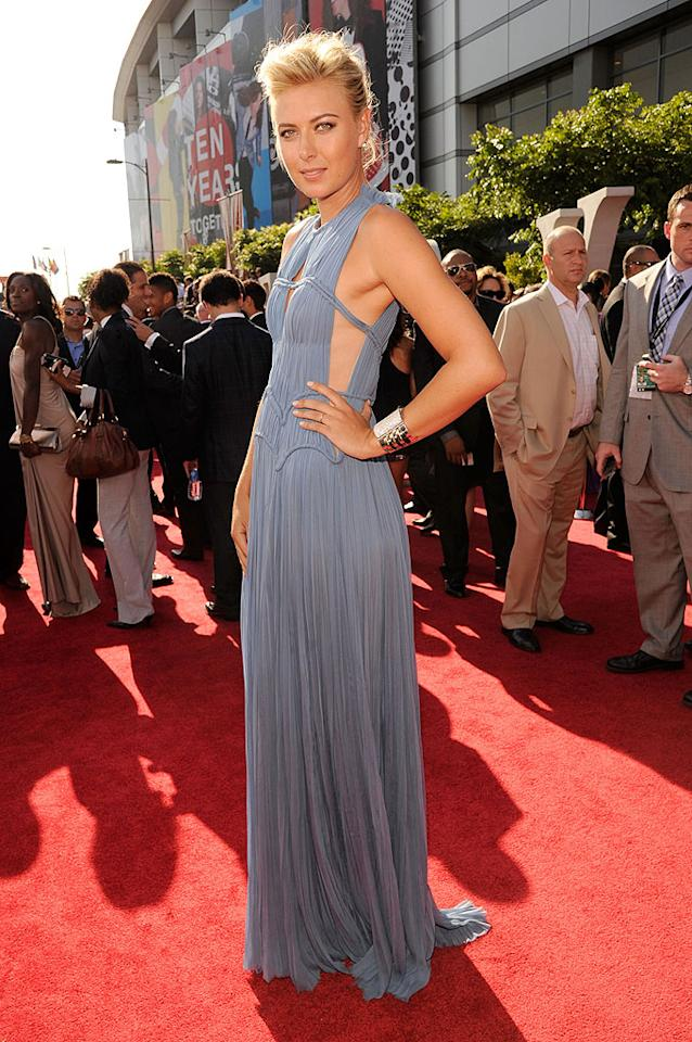 Russian professional tennis player Maria Sharapova arrives at the 2012 ESPY Awards.