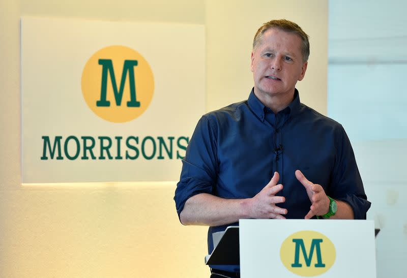 FILE PHOTO: David Potts chief executive of Morrisons at a news conference in London