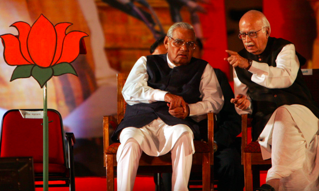 <p>Vajpayee with his close friend and the then deputy prime minister of India, Lal Krishna Advani. </p>