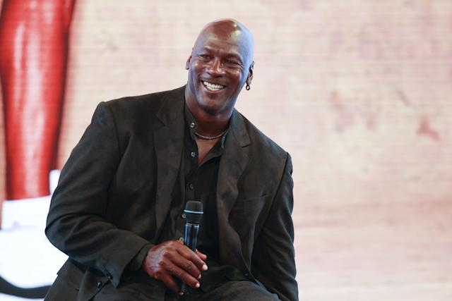 PARIS, FRANCE - JUNE 12: Michael Jordan attends a press conference for the celebration of the 30th anniversary of the Air Jordan Shoe during the 'Palais 23' interactive exhibition dedicated to Michael Jordan at Palais de Tokyo in Paris on June 12, 2015 in Paris, France. (Photo by Catherine Steenkeste/Getty Images)