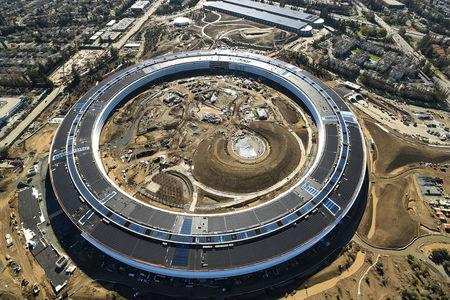 FILE PHOTO: The Apple Campus 2 is seen under construction in Cupertino
