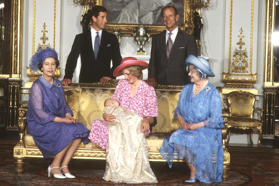 The Royal Family gathered for Prince William's Christening in 1982PA