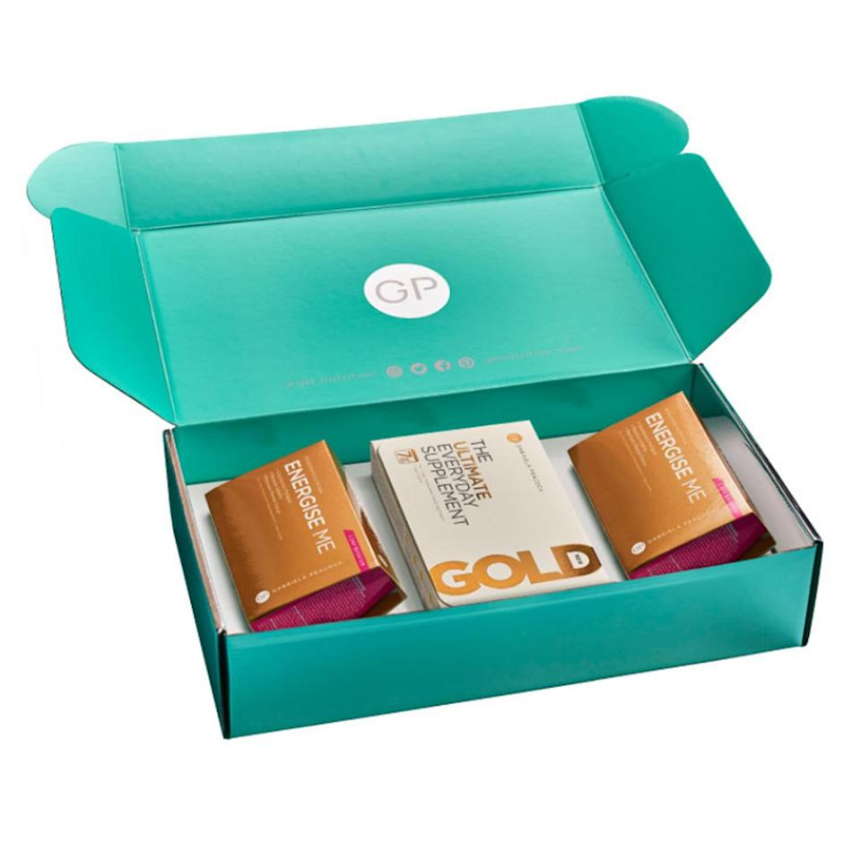"""<p>Christmas can be just as exhausting as it can be fun. Get a little boost with Gabriela Peacock's Energy Boost Box, which contains a specific selection of nutrients to support you through the busy festive season. The London-based, Czech-born nutritionist recently helped Princess Beatrice get wedding-ready!</p> <p><strong>Buy it! Gabriela Peacock Energy Boost Box, $51.99; <a href=""""https://gpnutrition.us/collections/special-offers/products/energy-boost-box?utm_source=people%20us&utm_medium=editorial&utm_campaign=people%20gift%20guide"""" rel=""""nofollow noopener"""" target=""""_blank"""" data-ylk=""""slk:gpnutrition.us"""" class=""""link rapid-noclick-resp"""">gpnutrition.us</a></strong></p>"""