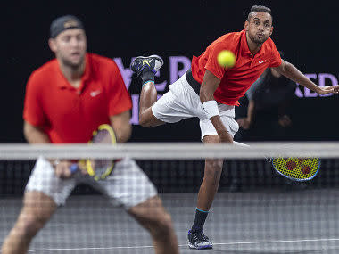 Laver Cup 2019: Jack Sock, Nick Kyrgios paired up to beat Rafael Nadal and Stefanos Tsitsipas as Team World cut down Europe's lead